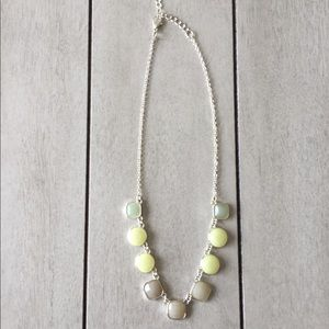 Blue Green Jeweled Necklace